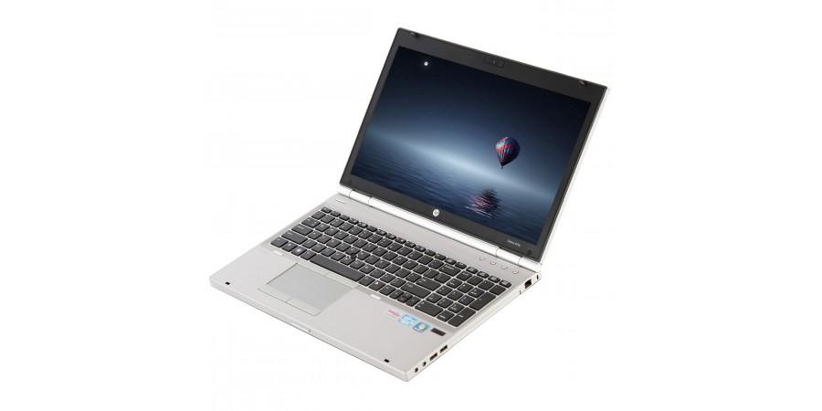 HP ELITEBOOK 8570P CORE i5 2600 4x 3300 15,6 LED (1600x900) 7570M KLASA II BAT BRAK 4096 128GB SSD WIN 8/10 PRO MOD LAN COM SD FW DP WIFI KAM