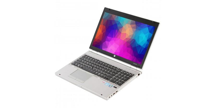 HP ELITEBOOK 8570P CORE i5 2600 4x 3300 15,6 LED (1600x900) 7570M KLASA II BAT BRAK 4096 128GB SSD DVD WIN 7/10 PRO MOD LAN COM SD FW DP WIFI BT