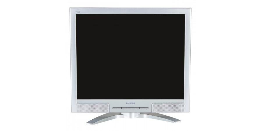 PHILIPS 190B8CS 19 (1280x1024) M3/O3 SILVER/BLACK VGA  DVI-D LCD