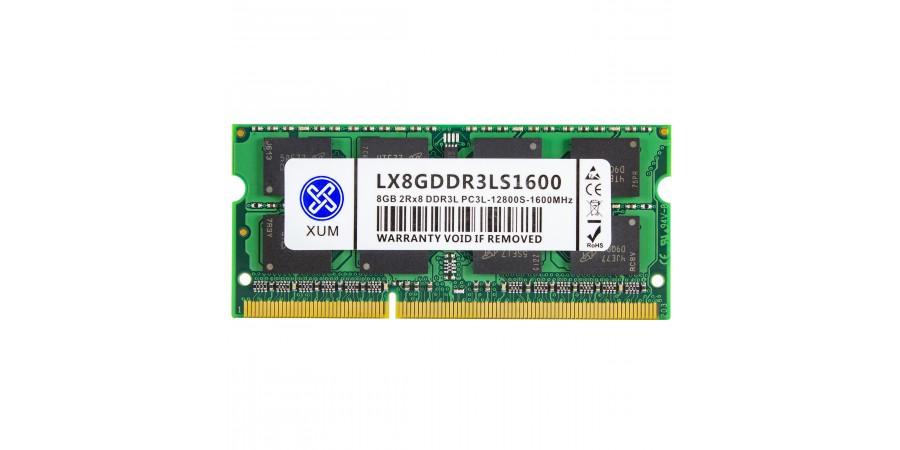 MICRON (XUM) 8GB DDR3L SODIMM PC3-12800S 1600MHz 1,35V 2Rx8NEW