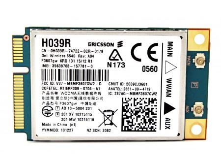 DELL 5540 WWAN ERICSSON F3607gw H039R miniPCI-E 3G/HSPA GPS