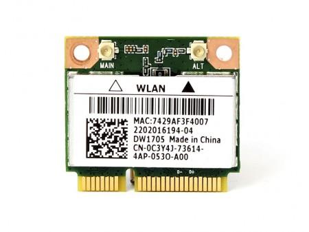 DELL 1705 WIFI BT QCWB335 C3Y4J 5GC50 half-miniPCI-E 802.11b/g/n BT 4.0