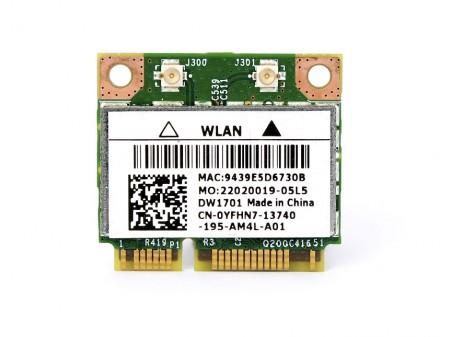 DELL 1701 WIFI BT BCM94313HMGB YFHN7 half-miniPCI-E 802.11b/g/n BT