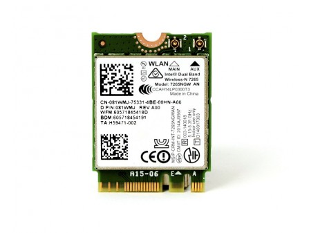 DELL WIFI BT INTEL 7265NGW AN 81WMJ M.2 802.11a/b/g/n BT 4.0