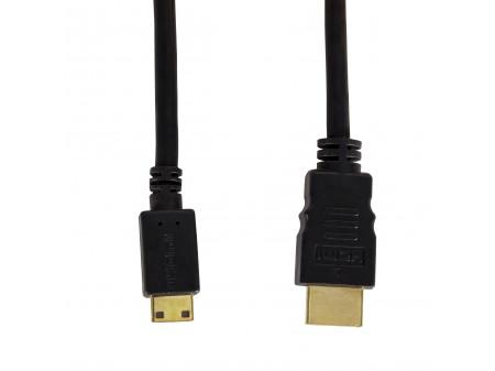 SAVIO KABEL mini HDMI MĘSKIE - HDMI MĘSKIE CL-09 1,5m, czarny, złote końcówki