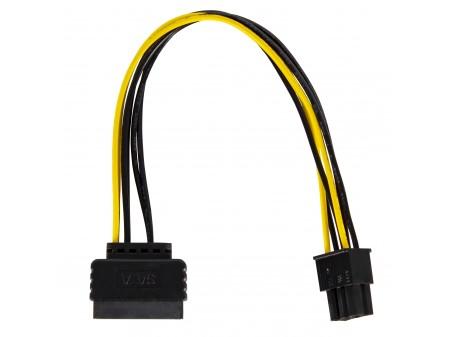 Delock Kabel SATA Power(M) -> PCI Express 6Pin 20cm